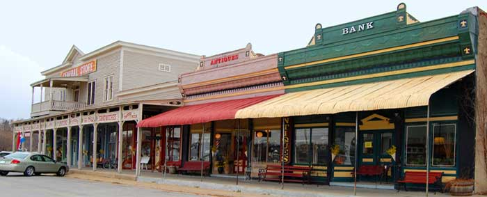 Downtown Paxico, Kansas by Kathy Weiser-Alexander.