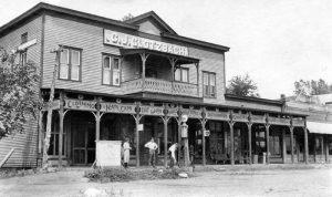 Glotzback Store in Paxico, Kansas, 1920.