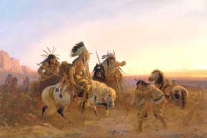 Plains Tribes by Karl F. Wimar, 1856