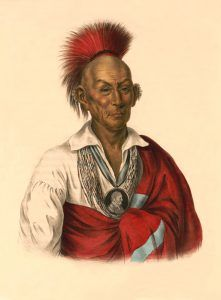 Sac Chief Black Hawk by John T. Bowen, 1838