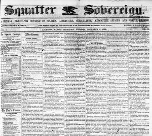 Squatter Sovereign Newspaper