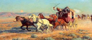 Stagecoach Painting by Richard Lorenz
