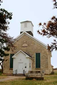 Bible & Rifle Church in Wabaunsee, Kansas by Kathy Weiser-Alexander.