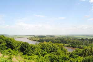 Missouri River at White Cloud, Kansas by Kathy Weiser-Alexander.