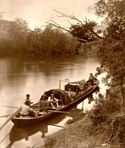 Keelboat, Jedediah Hotchkiss, 1872.