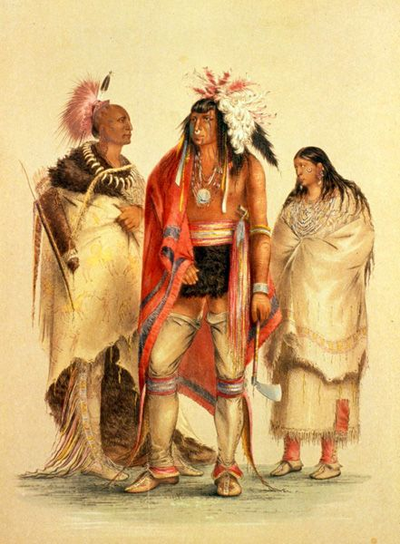 Osage indians by George Catlin.