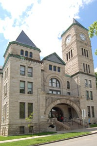 Atchison County Courthouse, Atchison, Kansas by Kathy Weiser-Alexander.