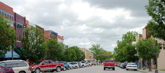 Atchison, Kansas Business District by Kathy Alexander.