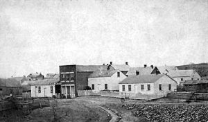 Atchison, Kansas in about 1860 by C.H. Masters