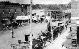 Early day Baldwin City, Kansas.