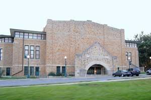 Memorial Hall at Baker University, Baldwin City, Kansas by Kathy Alexander.