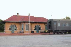 Santa Fe Depot in Baldwin, Kansas by Kathy Alexander.