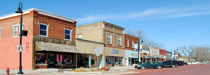 Baldwin, Kansas Business District by Kathy Alexander.