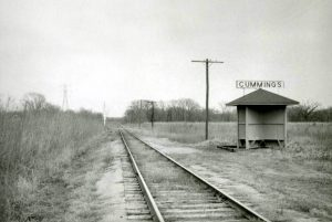 Atchison, Topeka & Santa Fe Railroad shed in Cummings, Kansas.