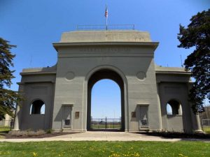 The Haskell Arch is a memorial to the 415 Haskell Students who served during World War I. Photo courtesy Wikimedia.