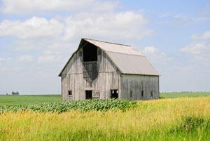 Rustic Barn near Huron, Kansas by Kathy Weiser-Alexander.