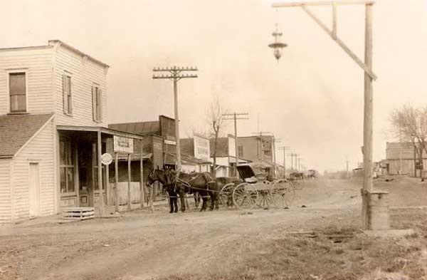 Early day Lancaster, Kansas.