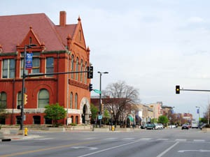 Downtown Lawrence, Kansas by Kathy Alexander.