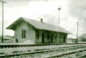 Train station ion Muscotah, Kansas by H. Killam, courtesy Kansas Memory.