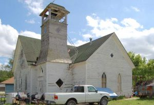 An old church in Muscotah, Kansas by Kathy Weiser-Alexander.