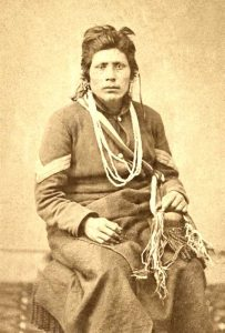 Native American soldier in Union uniform during the Civil War.