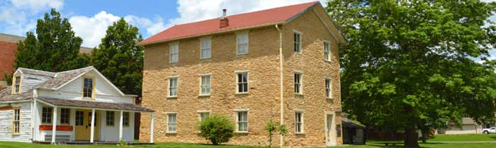 John Baldwin's mill now serves as the Old Castle Museum at Baker University in Baldwin, Kansas. Photo courtesy Old Castle Museum.