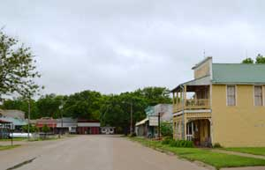 Main Street in Paxico, Kansas today by Kathy Weiser-Alexander.