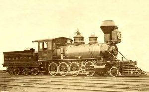 Atchison, Topeka & Santa Fe Railway Steam Locomotive, 1880.