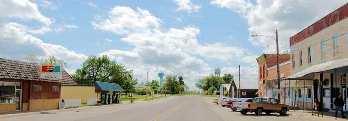 Effingham, Kansas Main Street by Kathy Weiser-Alexander.