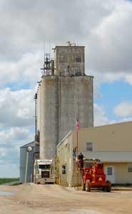 Grain Elevator in Lancaster, Kansas by Kathy Weiser-Alexander.