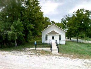 An old building in Arrington, Kansas. Looks like it might have been a post office. Photo courtesy Google Maps.