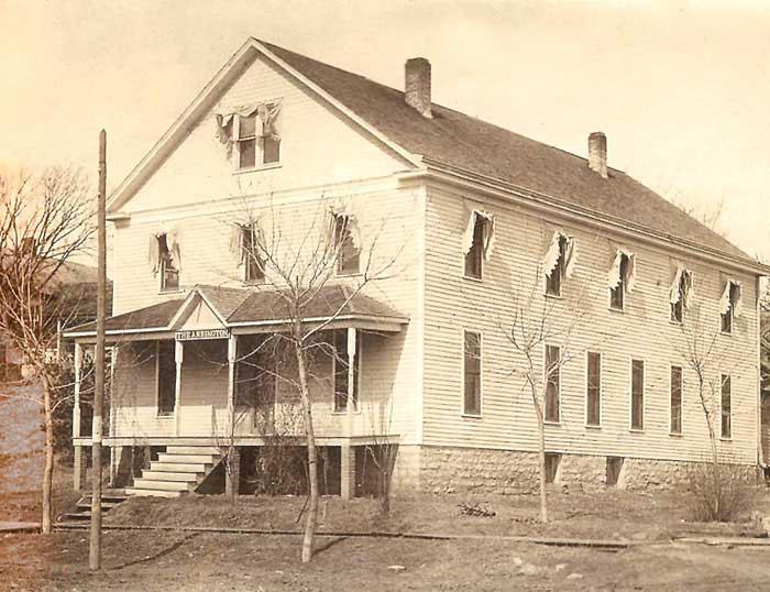 The Arrington, Kansas Hotel built in 1902 was razed in 1953.