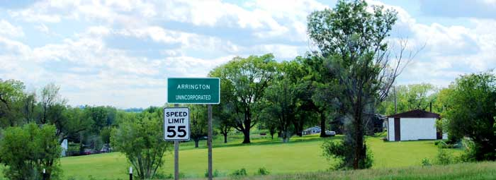 Arrington, Kansas Sign