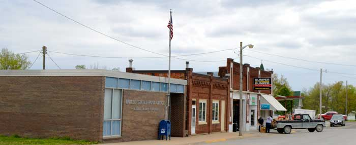 Downtown Axtell, Kansas by Kathy Weiser-Alexander.
