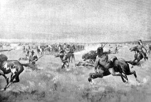 Battle at the Saline River, Kansas.