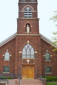 A beautiful church in Beattie, Kansas by Kathy Weiser-Alexander.