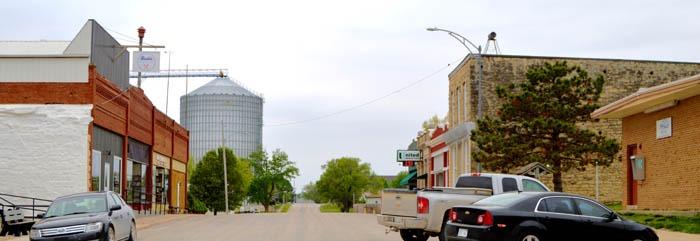 Downtown Beattie, Kansas by Kathy Weiser-Alexander.