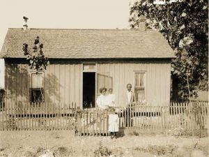 African Americans in Kansas about 1885.