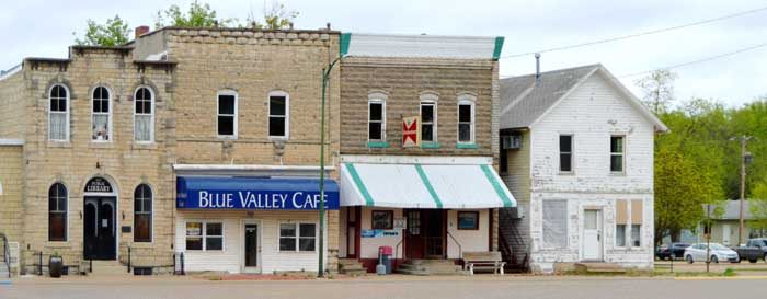 Main Street in Blue Rapids, Kansas by Kathy Weiser-Alexander.