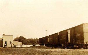 Early day Bremen, Kansas along the St. Joseph & Grand Island Railroad.