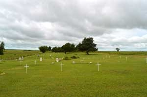 The African American Cemetery in Dunlap, Kansas is listed on the National Register of Historic Places by Kathy Weiser-Alexander.