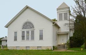 Methodist Church in Dunlap, Kansas by Kathy Weiser-Alexander.