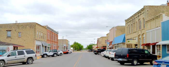 Frankfort, Kansas Main Street by Kathy Weiser-Alexander.