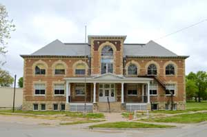 The old Frankfort School is being restored today. Photo by Kathy Weiser-Alexander.