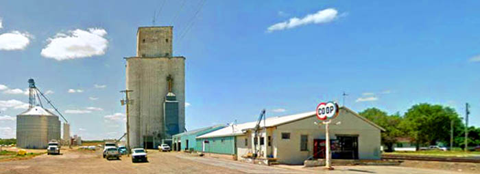 Herkimer, Kansas Co-op Grain Elevator courtesy Google Maps.