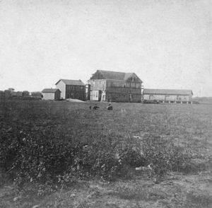 Hotel and Depot, Salina 1867, photo by Alexander Gardner.