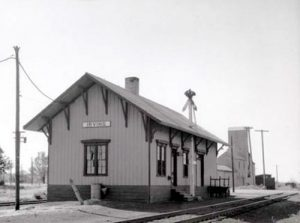 Railroad Depot in Irving, Kansas.
