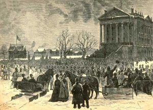 Governor John Pierce St. John Inaugeration by Harpers Weekly, 1879,