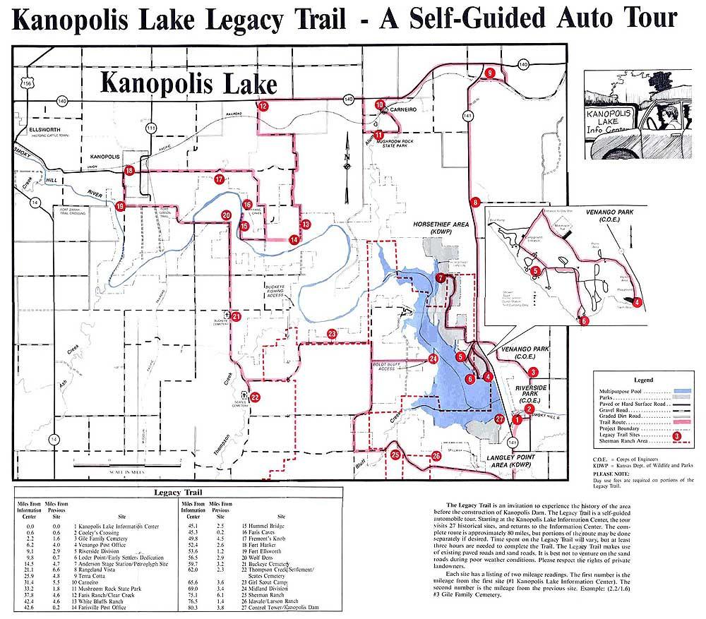 Kanopolis Legacy Tour Map