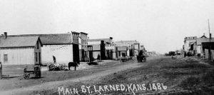 Larned, Kansas Main Street 1886